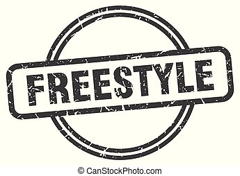 freestyle vintage stamp. freestyle sign