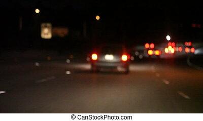freeway brake lights