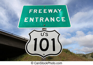 Freeway Entrance Sign US 101