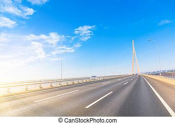freeway - freeway with sky background.
