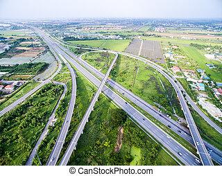 Freeway in Bangkok Thailand