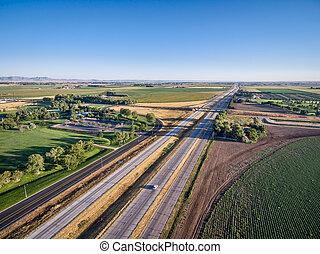 freeway in northern Colorado