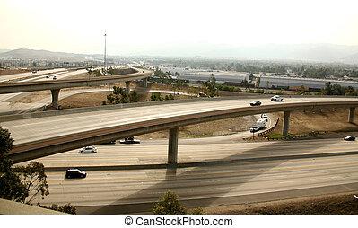 Freeway Interchange in Southern California
