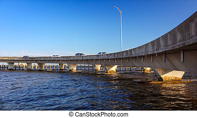 Freeway Interchange Over Gulf of Mexico in Biloxi, Mississippi