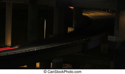 Freeway interchange xcu - This is a time lapse shot at night...