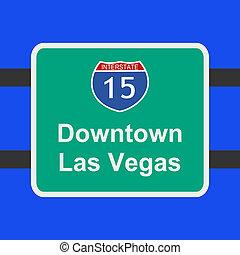freeway to Las Vegas sign