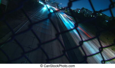 Freeway Traffic Dutch Time-lapse - Time-lapse dutched angle...
