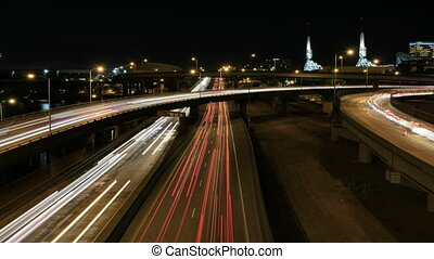 Freeway Traffic Light Trails 1080p - Rush Hour Interstate...