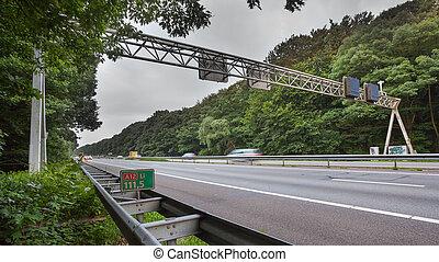 Freeway Traffic Sign Gantry