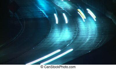Freeway Traffic Time-lapse