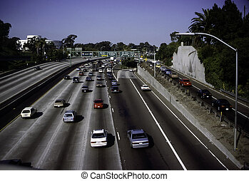 Freeway traffic