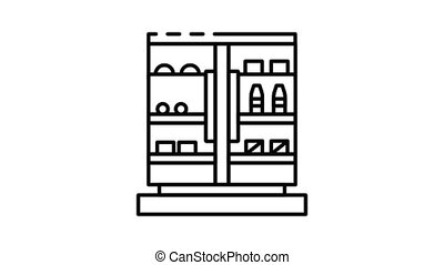 Freezer icon animation. Motion set of best icons and then each objects is shown separately