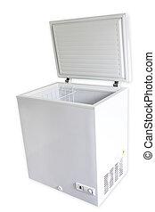 Freezer on plain background