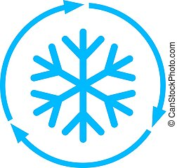 Freezing vector icon - Abstract freezing vector flat icon