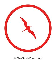 fregata, kruh, ptáček