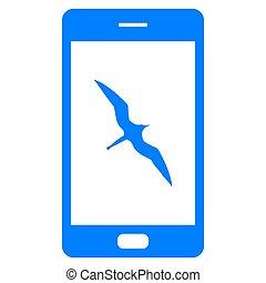 fregata ptáci, smartphone