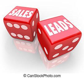 fregueses, dados, negócio, vendas, chumbos, palavras, jogo, novo, vermelho