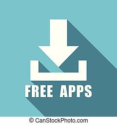 frei, apps, abbildung