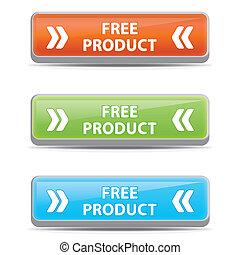 frei, buttons., produkt