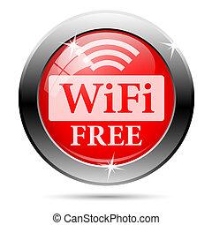 frei, wifi, ikone