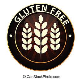 frei, zeichen, gluten