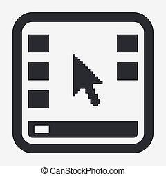 freigestellt, abbildung, schreibtisch, ledig, vektor, ikone