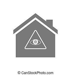 Haus dreiecke ikone vektoren illustration suche for Suche ein haus