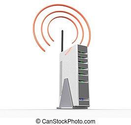 freigestellt, radio, hintergrund, internet, weißes, 3d