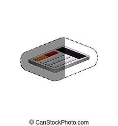 freigestellt, taschenrechner, design
