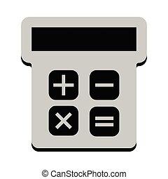 freigestellt, taschenrechner, ikone