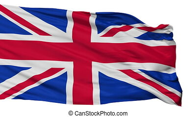 freigestellt, vereinigtes königreich, stadt, fahne,...