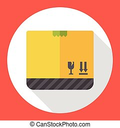 freight box flat icon