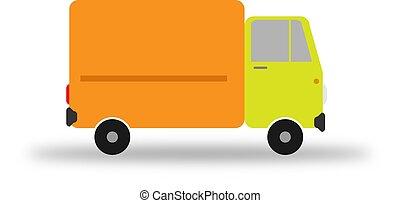 Freight car. Flat image