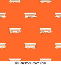 Freight car pattern vector orange