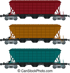 Freight car - Vector image of collection of freight car