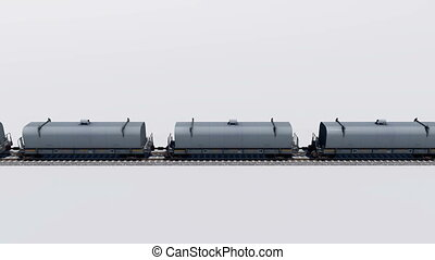 Freight cargo train loop animation