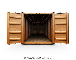 Freight container - 3D render of a freight container