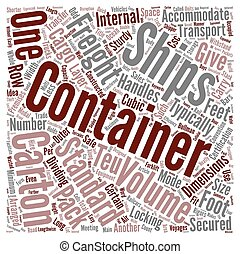 Freight Containers Transformed Logistics Word Cloud Concept Text Background