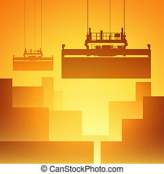 Freight Containers - A Vector Illustration of Freight...