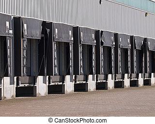 Freight Docks Economy Concept