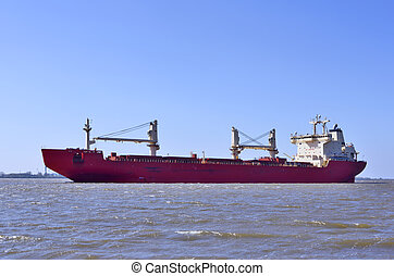 Freight ship or container ship