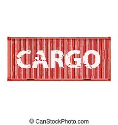 Freight shipping, cargo container - Freight shipping, metall...