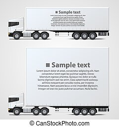 Freight shipping avto banner art. Vector background