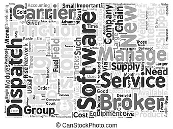 Freight Software text background word cloud concept