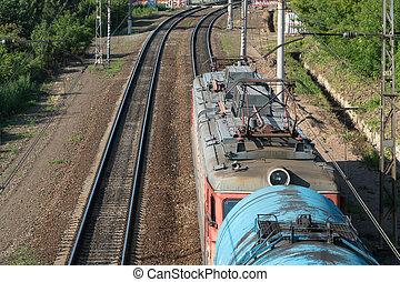 freight tanks on railways