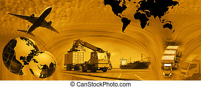 Freight template 2010 - Photo montage of freight/transport...