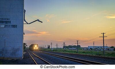 Freight train approaching