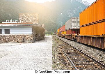 Freight train.