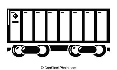 Freight train icon animation simple best object on white