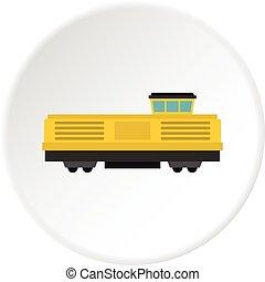 Freight train icon circle
